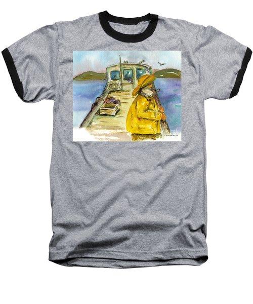 Fisherman Half Moon Bay Baseball T-Shirt