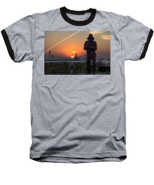 Fisherman Sunrise Baseball T-Shirt