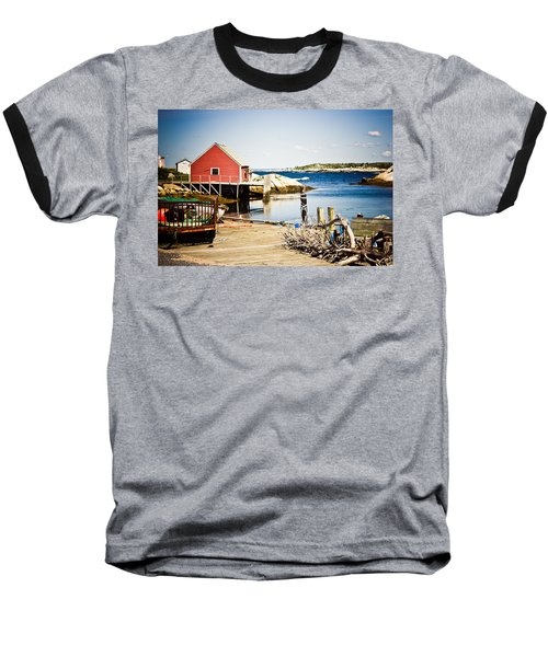 Baseball T-Shirt featuring the photograph Fisherman's Cove by Sara Frank