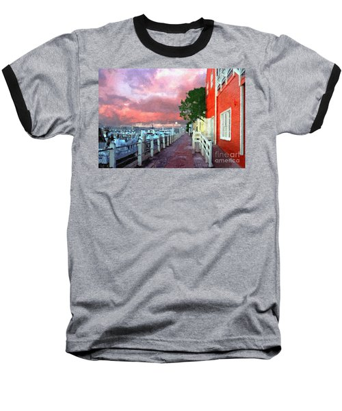 Baseball T-Shirt featuring the photograph Fisherman's Village Marina Del Mar Ca by David Zanzinger