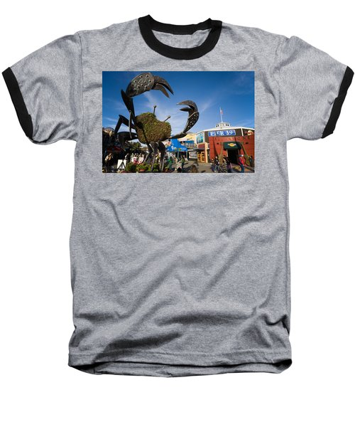 Fishermans Wharf Crab Baseball T-Shirt