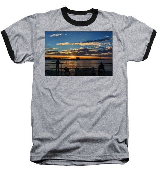 Baseball T-Shirt featuring the photograph Fishermen Morning by Tammy Espino