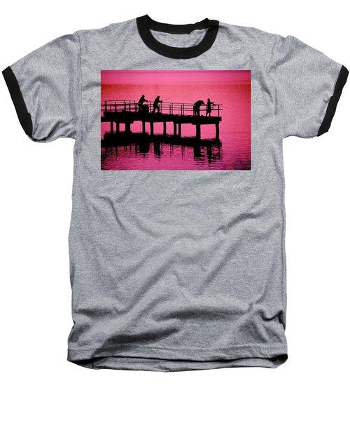 Baseball T-Shirt featuring the photograph Fishermen by Raymond Salani III
