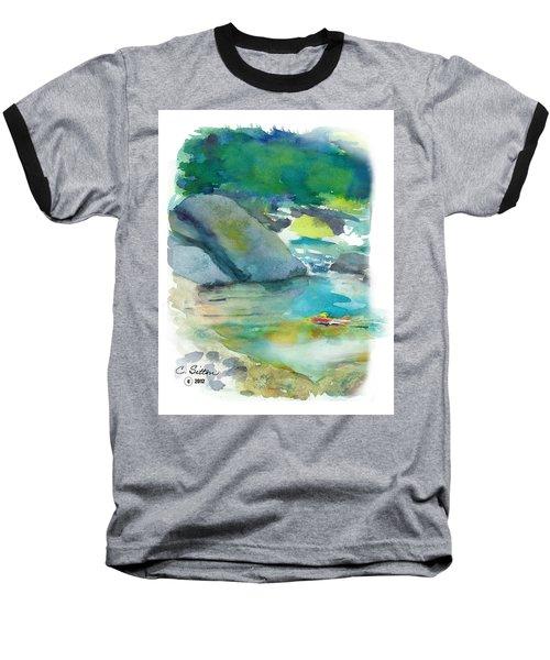 Fishin' Hole Baseball T-Shirt by C Sitton