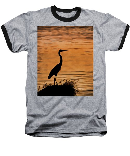 Fishing At Sunset Baseball T-Shirt