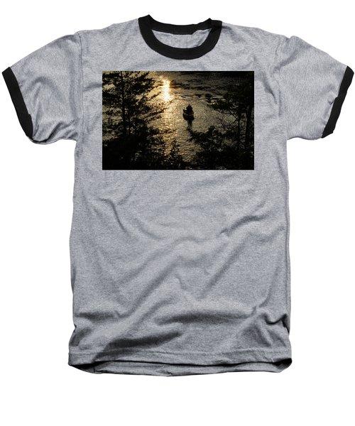 Fishing At Sunset - Thousand Islands Saint Lawrence River Baseball T-Shirt
