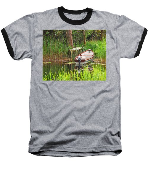 Baseball T-Shirt featuring the photograph Fishing Boat by Mary Carol Story