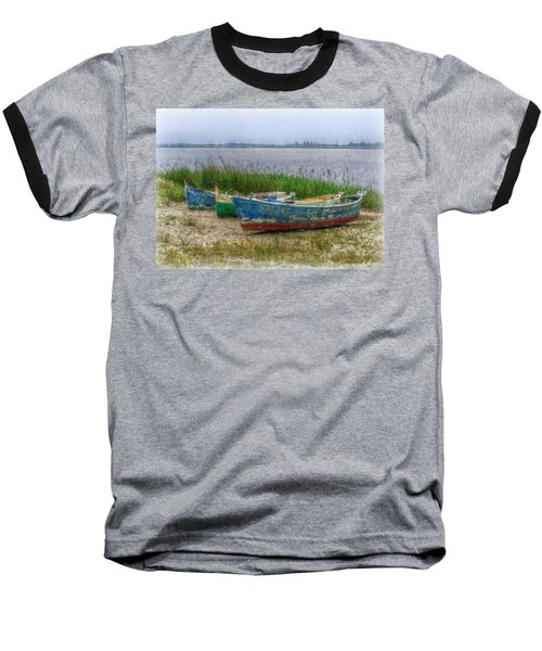 Baseball T-Shirt featuring the photograph Fishing Boats by Hanny Heim