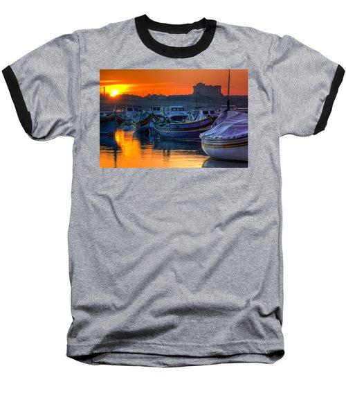 Fishing Boats In Birzebuggia Harbour Baseball T-Shirt