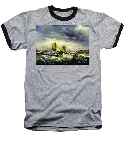 Baseball T-Shirt featuring the digital art Fishing In High Water by Lianne Schneider