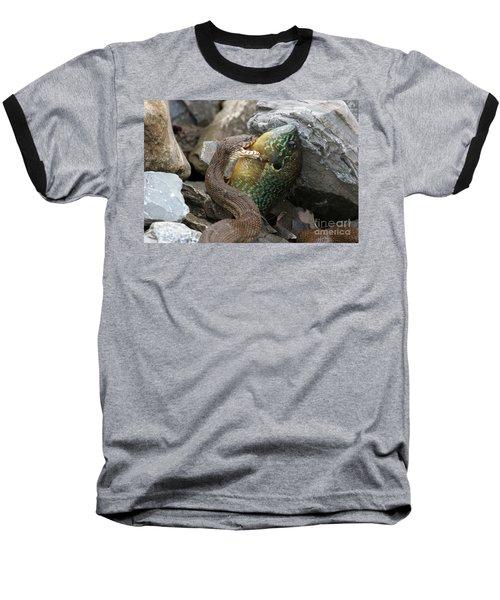 Fishing Baseball T-Shirt by Jeannette Hunt