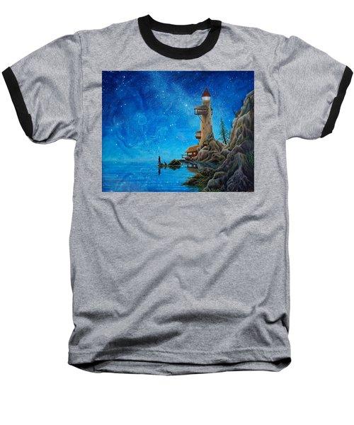 Fishing Baseball T-Shirt by Matt Konar
