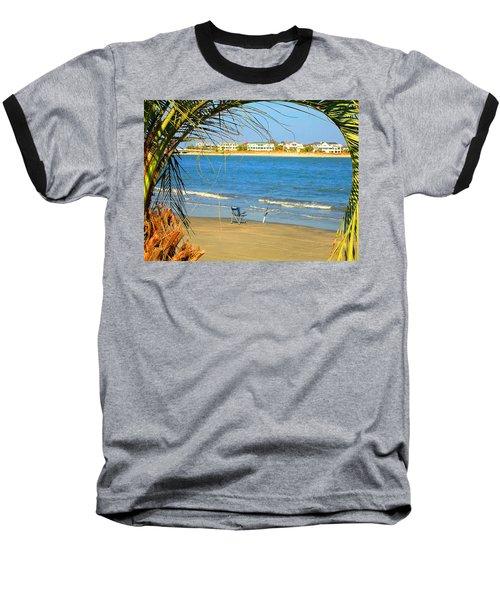 Fishing Paradise At The Beach By Jan Marvin Studios Baseball T-Shirt