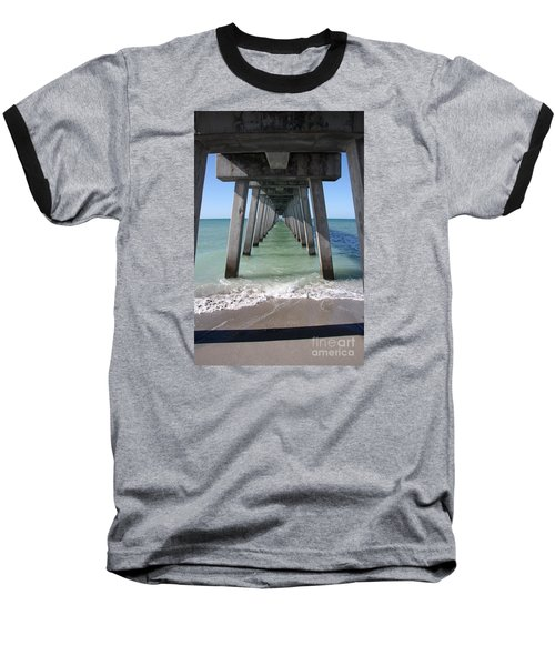 Fishing Pier Architecture Baseball T-Shirt