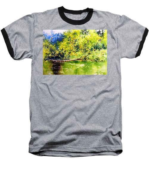 Fishing Pond Baseball T-Shirt