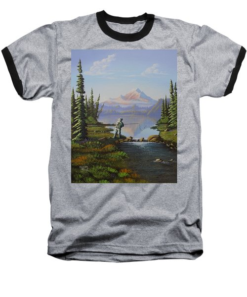 Fishing The High Lakes Baseball T-Shirt by Richard Faulkner