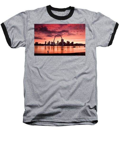 Fishing The Mississippi In St Louis Baseball T-Shirt