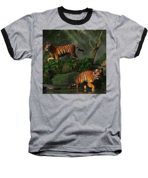 Fishing Tigers Baseball T-Shirt