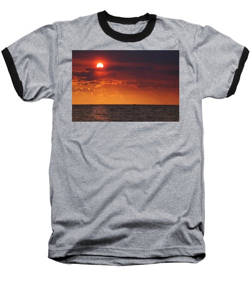 Fishing Till The Sun Goes Down Baseball T-Shirt