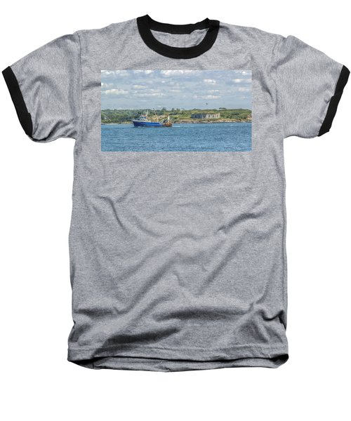 Baseball T-Shirt featuring the photograph Fishing Trawler Coming Into Port by Jane Luxton