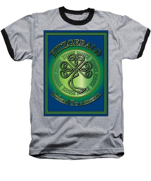 Fitzgerald Ireland To America Baseball T-Shirt