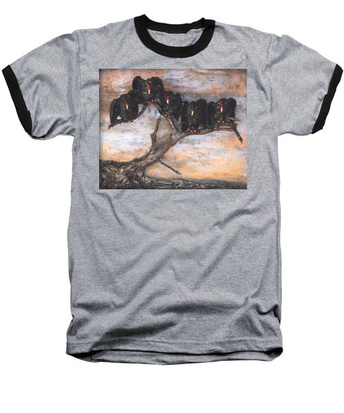 Five Vultures In Tree Baseball T-Shirt