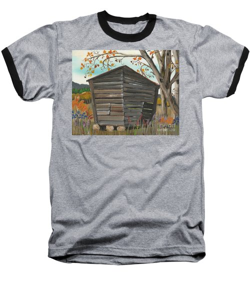 Autumn - Shack - Woodshed Baseball T-Shirt