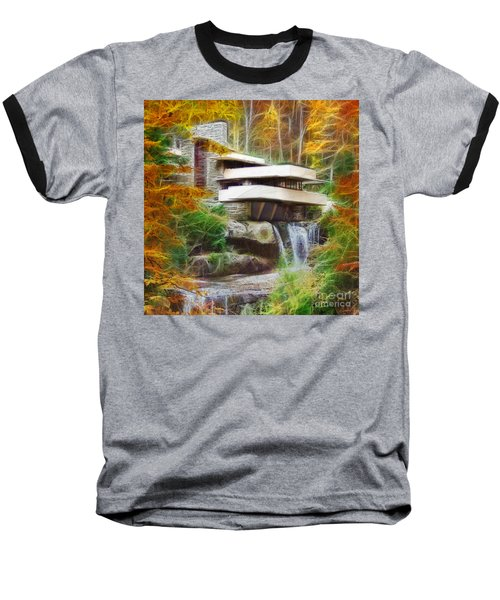 Fixer Upper - Square Version - Frank Lloyd Wright's Fallingwater Baseball T-Shirt
