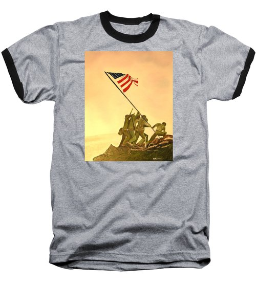 Flag Raising At Iwo Jima Baseball T-Shirt