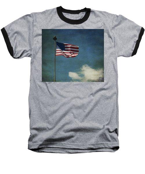 Flag - Still Standing Proud - Luther Fine Art Baseball T-Shirt