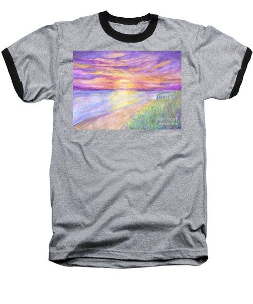 Flagler Beach Sunrise Baseball T-Shirt