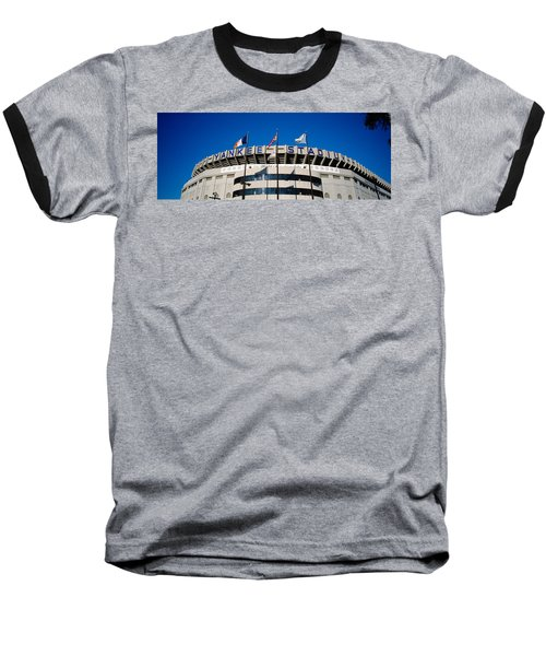 Flags In Front Of A Stadium, Yankee Baseball T-Shirt by Panoramic Images