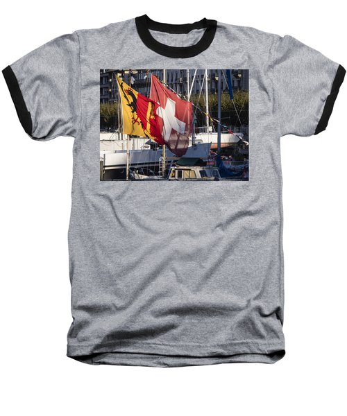 Flags Baseball T-Shirt by Muhie Kanawati