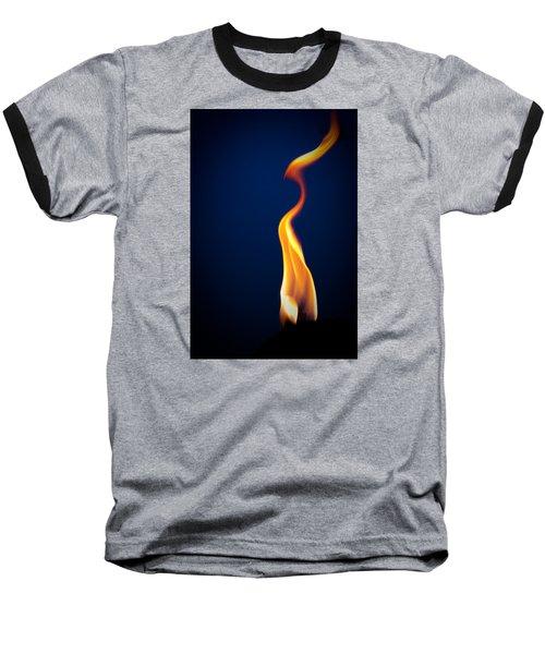 Flame Baseball T-Shirt by Darryl Dalton