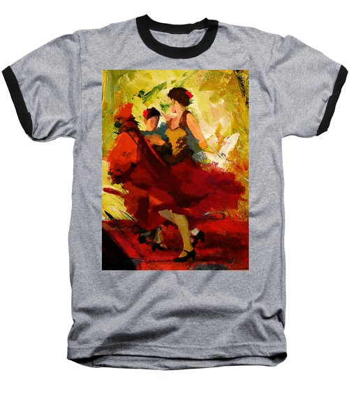 Flamenco Dancer 019 Baseball T-Shirt
