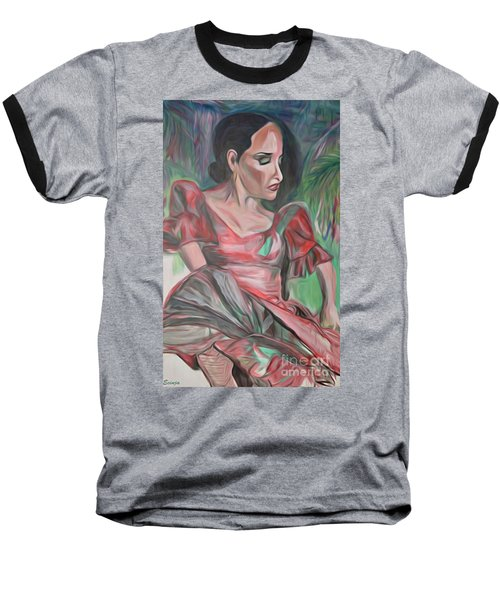 Baseball T-Shirt featuring the painting Flamenco Solo by Ecinja Art Works