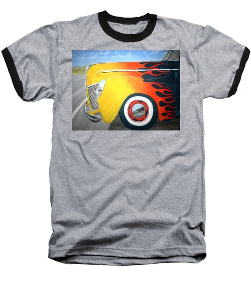Baseball T-Shirt featuring the painting Flames by Stacy C Bottoms