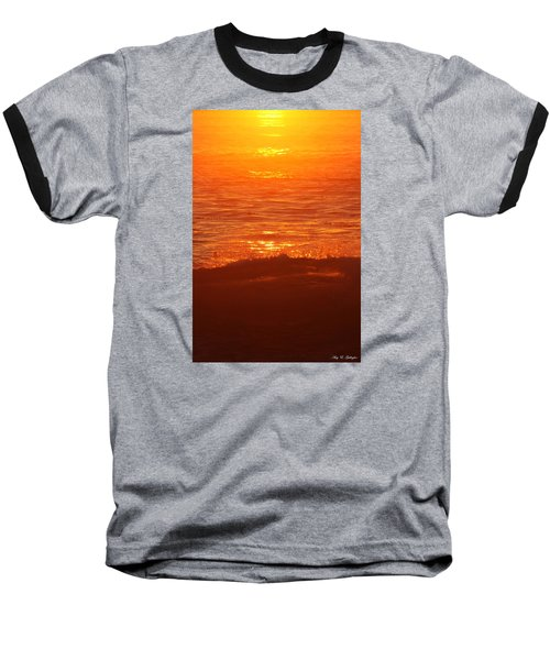 Flames With No Horizon Baseball T-Shirt by Amy Gallagher