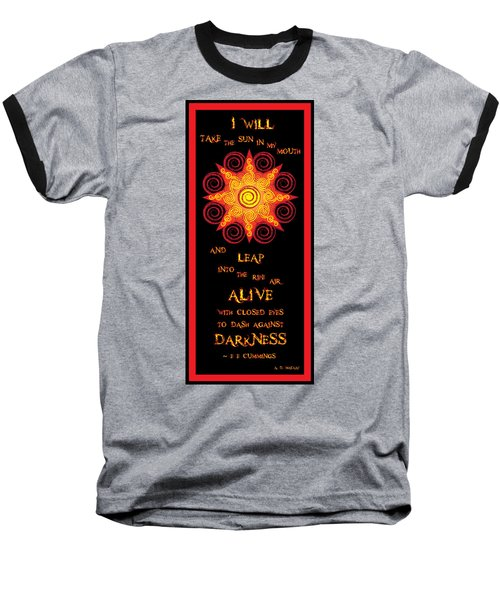 Flaming Celtic Sun Baseball T-Shirt