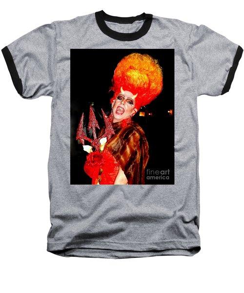 Halloween Flamming Devilish Deva Costume In The French Quarter Of New Orleans Baseball T-Shirt