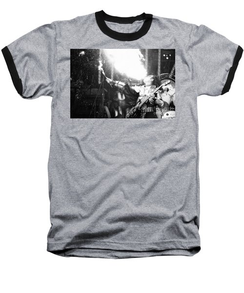 Baseball T-Shirt featuring the photograph Flaming Gene by Steven Macanka