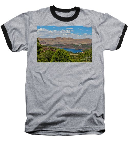Baseball T-Shirt featuring the photograph Flaming Gorge by Janice Rae Pariza
