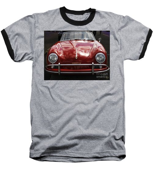 Flaming Red Porsche Baseball T-Shirt