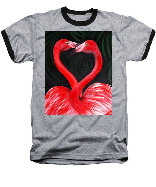 Love  Is... Flamingo Love. Inspirations Collection Baseball T-Shirt