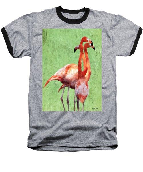 Flamingo Twist Baseball T-Shirt
