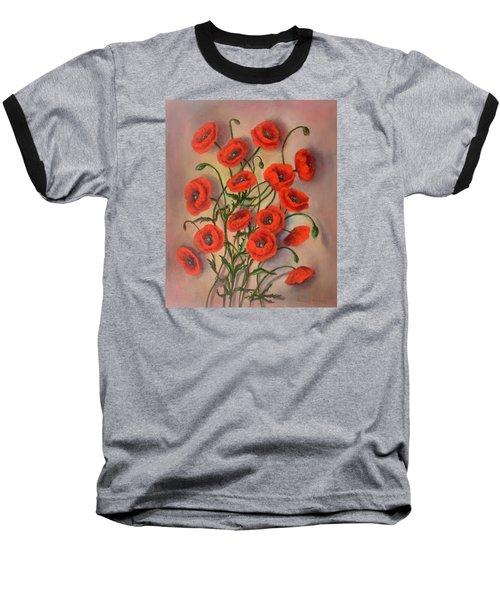 Flander's Poppies Baseball T-Shirt