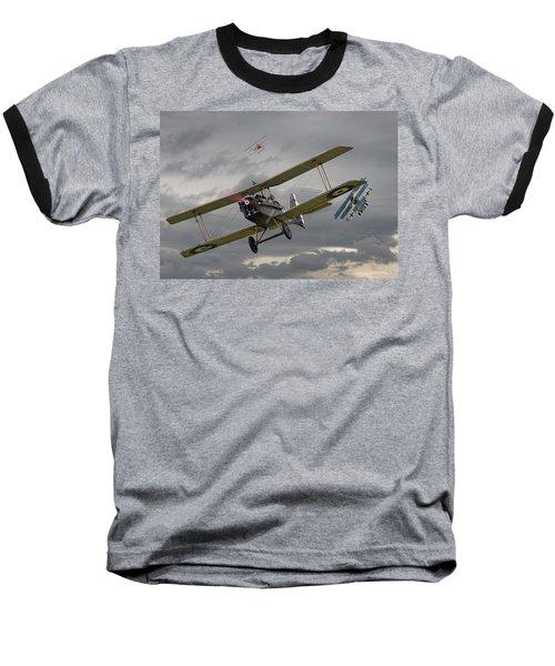 Flander's Skies Baseball T-Shirt by Pat Speirs