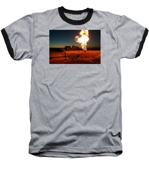 Flare And A Vacuum Truck Baseball T-Shirt by Jeff Swan