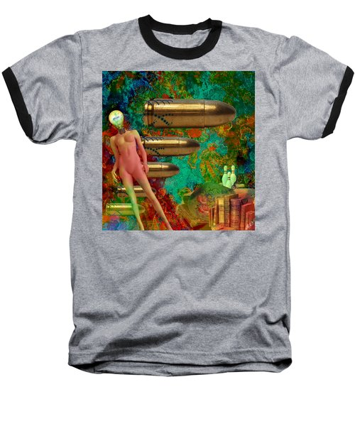Baseball T-Shirt featuring the mixed media Flashbacks by Ally  White
