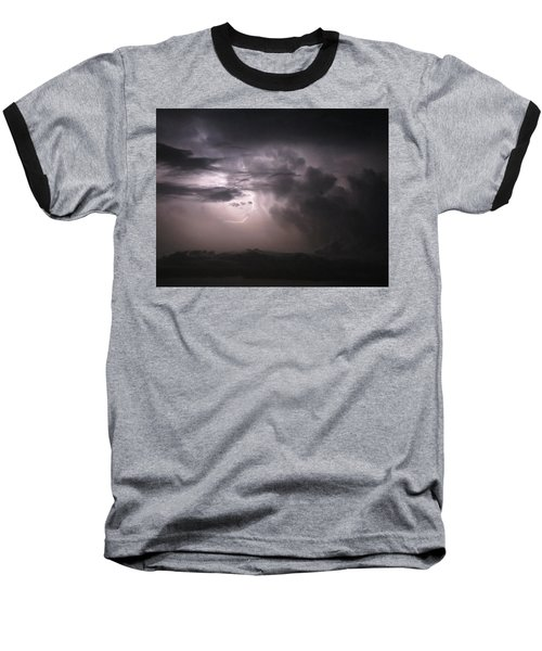 Flashes Of Lightening Baseball T-Shirt by Fortunate Findings Shirley Dickerson